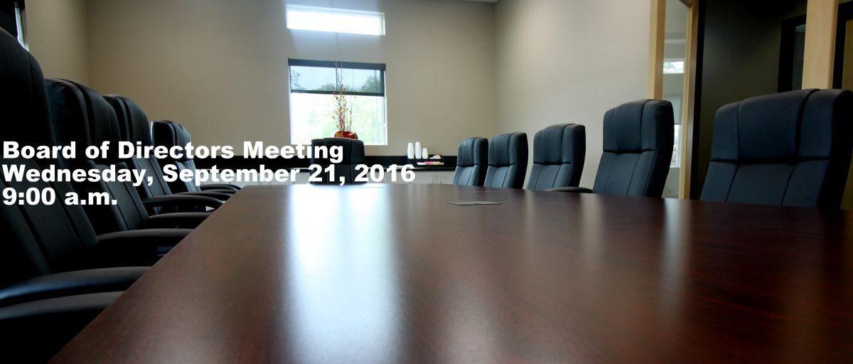 Permalink to: September Board of Directors Meeting