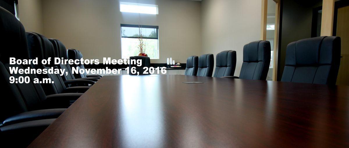 Permalink to: November Board of Directors Meeting