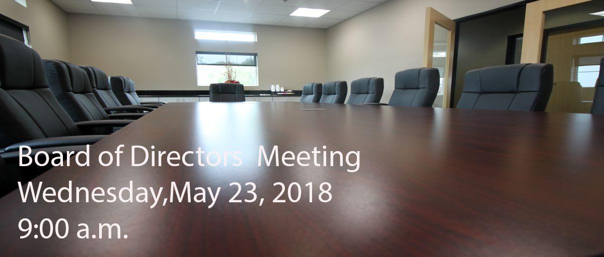Permalink to: May Board of Directors Meeting